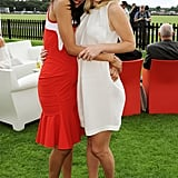 Zoe Saldana and Alice Eve were a stylish pair at a London polo event in July 2013.