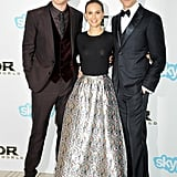 Chris Hemsworth, Natalie Portman, and Tom Hiddleston posed together before the world premiere of Thor: The Dark World in London on Tuesday.