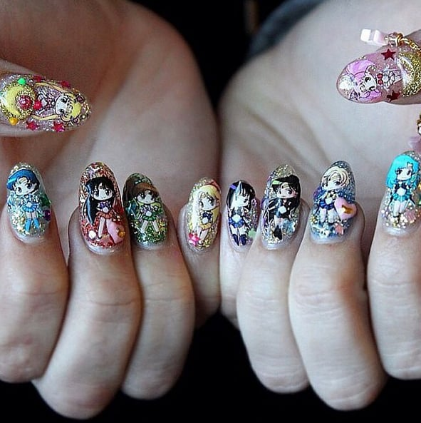 - Sailor Moon Nail Art Ideas POPSUGAR Beauty