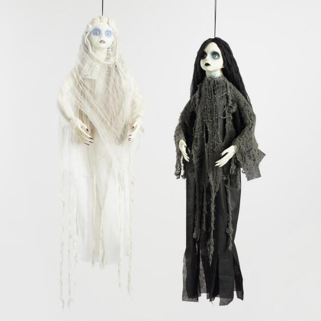 Pair of Girl Ghost Hanging Figures ($40)