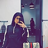 Kylie Jenner Navy Blue Hair February 2017