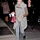 Katy Perry carried a red bag in NYC.