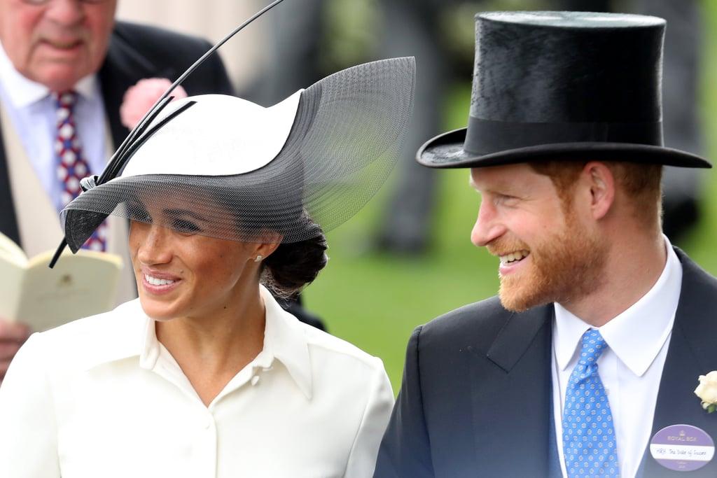Meghan Markle's White and Black Hat Royal Ascot 2018