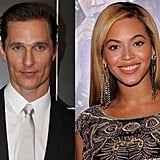 Matthew McConaughey and Beyoncé Knowles