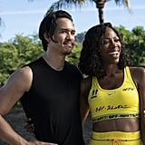 Molly's Yellow Off-White Workout Set on Insecure