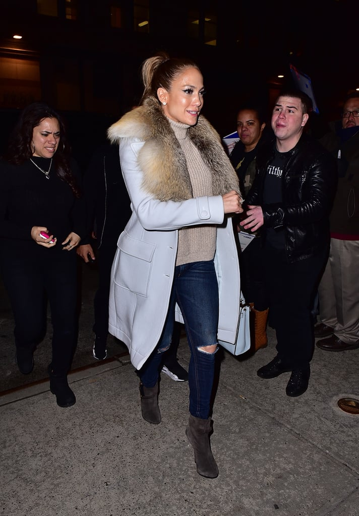 February 2016 In New York City Jennifer Lopez Street
