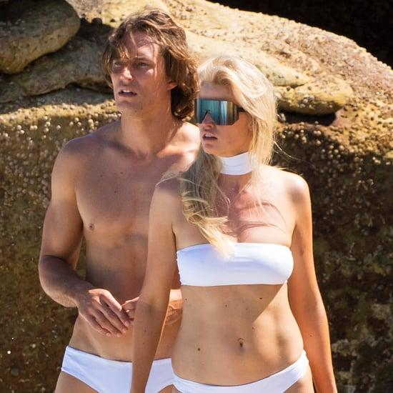 Lara Stone in a White Bikini