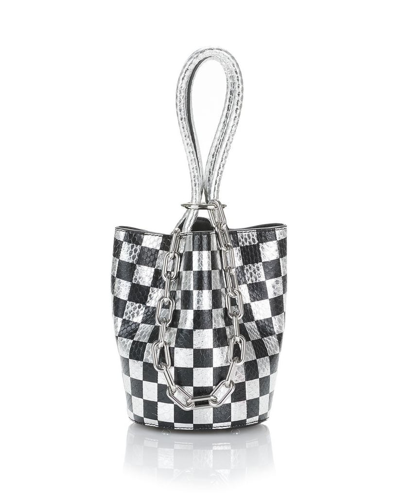 Alexander Wang Roxy Checkerboard Elaphe Mini Bucket Bag