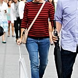 Jennifer Garner looked cute and casual in a pair of jeans.