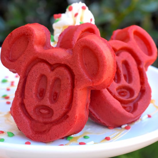 Disney Holiday Red Velvet Mickey Waffles