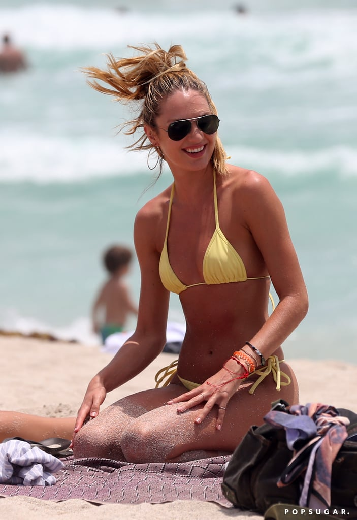 Candice Swanepoel spent Memorial Day Weekend at a Miami beach in May 2013.