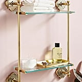 The wall-mounted Anthropologie Vera Two-Tier Shelf ($US188) is as elegant as you can get when it comes to a skincare product holder.