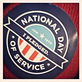 Participating in the National Day of Service.