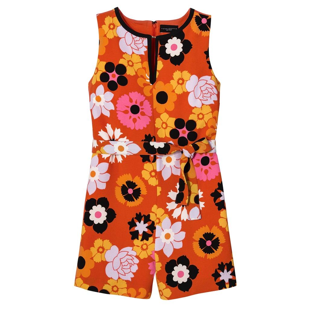 73a5e8f365b Retro Floral Tie Waist Romper ( 30)