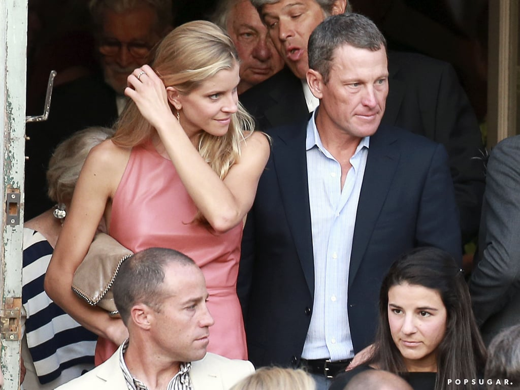Lance Armstrong was a guest at the wedding.