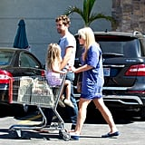 Joshua Jackson chatted with Busy Philipps and her daughter Birdie after running into each other at the grocery store in LA.