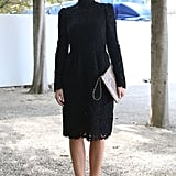 A lacy sheath and Valentino add-ons made this an enviable take on ladylike.