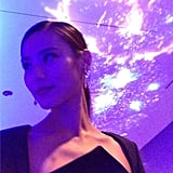 Pulling intergalactic inspiration, Jamie Chung arrived at the Gravity premiere. Source: Instagram user jamiejchung