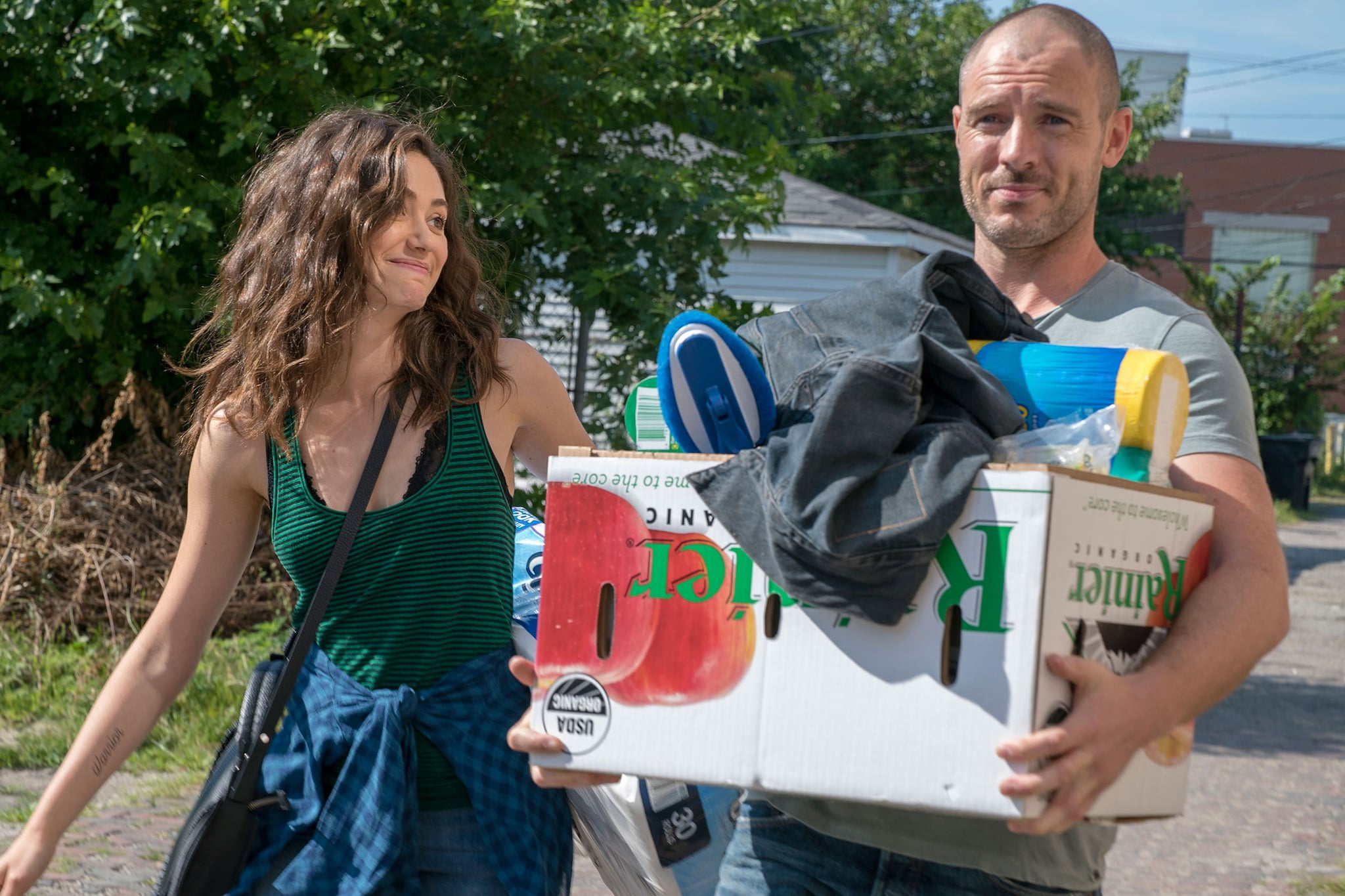 SHAMELESS, Emmy Rossum, Richard Flood in 'Are You There Shim? It's Me, Ian', (Season 9, episode 901, aired September 9, 2018), ph: Chuck Hodes / Showtime / courtesy Everett Collection
