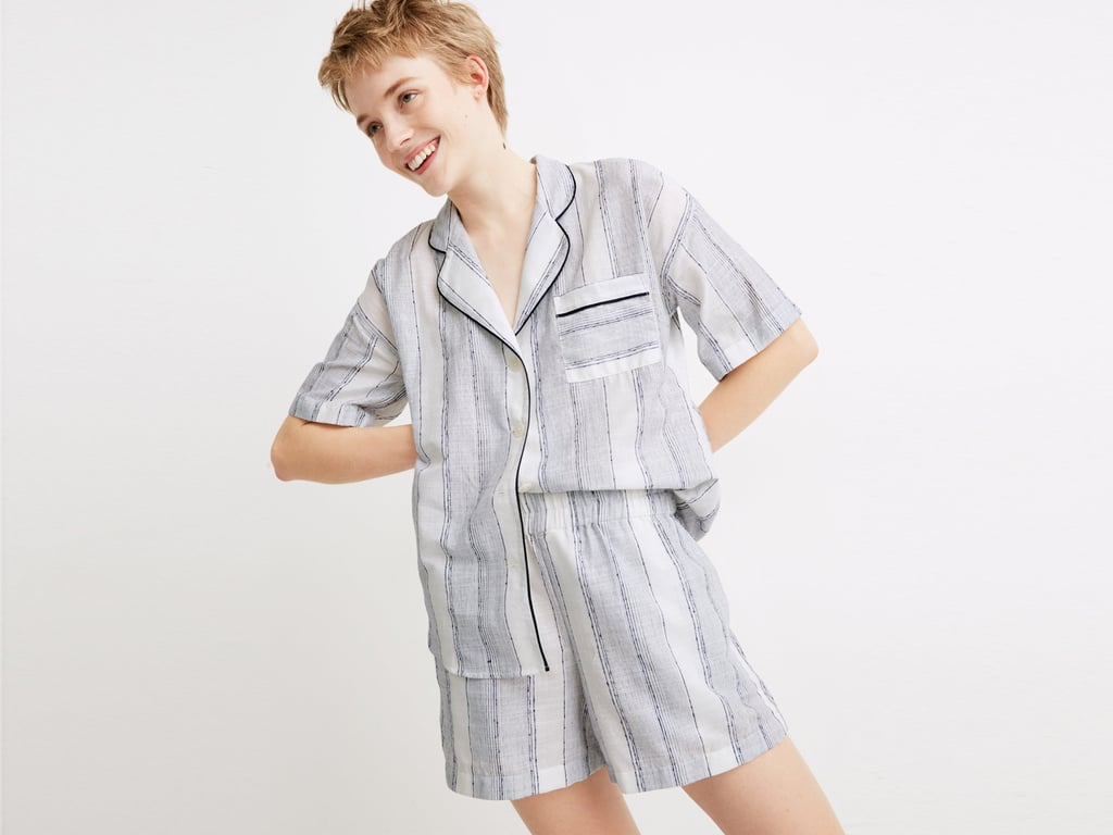 Madewell x Parachute Striped Oversized Pajama Shirt and Shorts