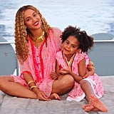 Beyoncé and Blue Ivy in Pink Cover-Ups 2018