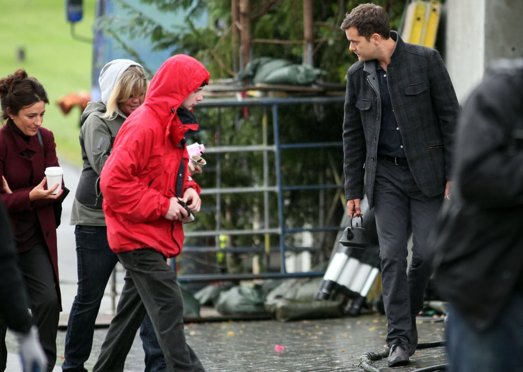 Joshua Jackson filming Fringe in Vancouver.