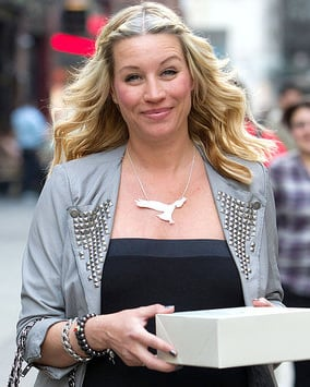 Photo of Denise Van Outen Who Gave Birth To Baby Daughter Betsy Today With Her Husband Lee Mead Close By