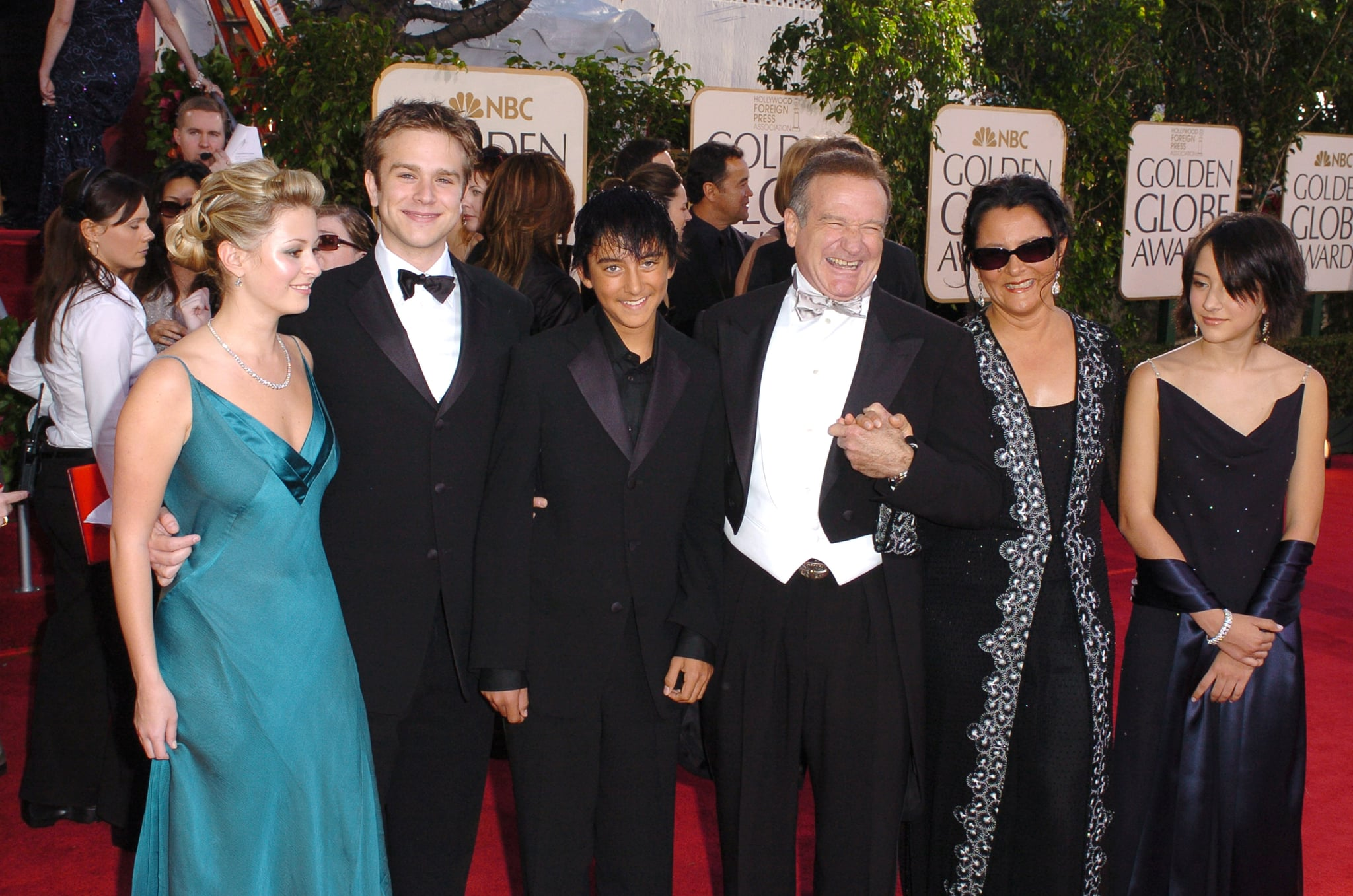 Robin Williams and family during The 62nd Annual Golden Globe Awards - Arrivals at Beverly Hilton Hotel in Los Angeles, California, United States. (Photo by SGranitz/WireImage)