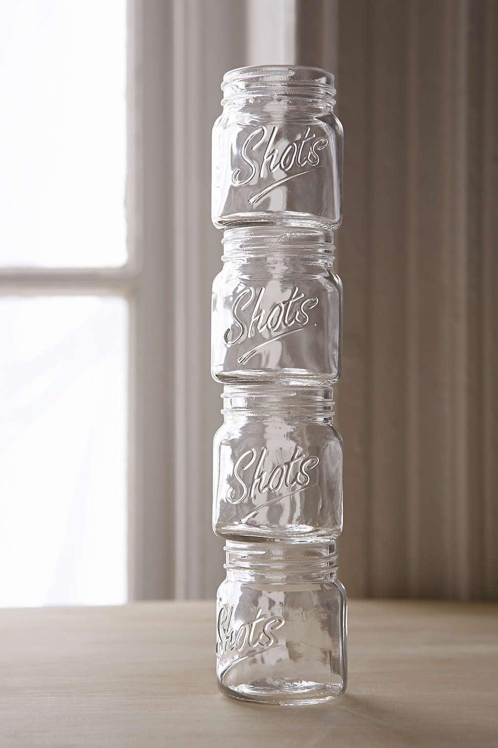 Mason-Jar Shot Glasses ($13)
