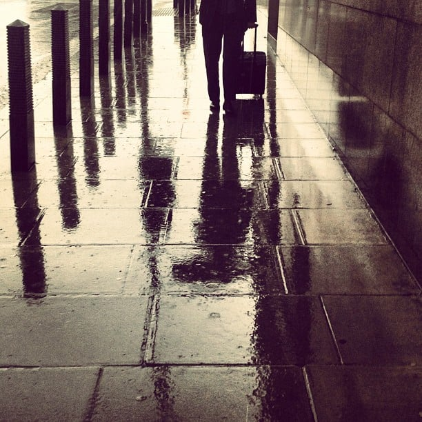 London and rain is a pairing as classic as a Burberry trench. Source: Instagram user burberry
