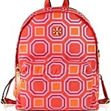 Tory Burch Octagon Square Print Nylon Backpack