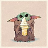 Baby Yoda Eating a Dole Whip
