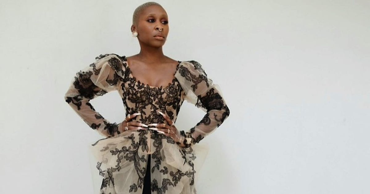 Cynthia Erivo Shares a Close-Up Look at Her Custom Vera Wang Dress, and Damn, That's Intricate.jpg
