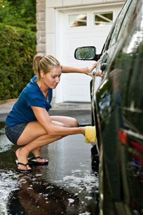 Turn a Carwash Into an Exercise Opportunity