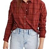 Madewell Plaid Oversize Ex-Boyfriend Shirt