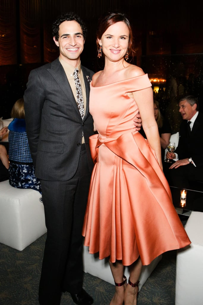 Zac Posen and Juliette Lewis (wearing Zac Posen) at the Lifetime Achievement Award Celebration in New York. Photo: Benjamin LozovskyBFAnyc.com