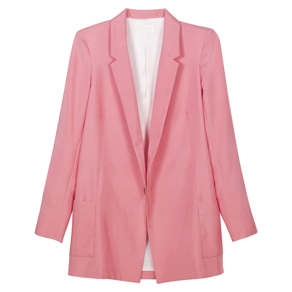 With its relaxed silhouette, this oversize silk blazer from Hannah + Kaelen's capsule collection ($425) is the perfect layering piece to transition from August well into September. Plus, this color — one that's sure to be a street-style favorite this Fall — stands out without sending pinkaphobes running for the hills.