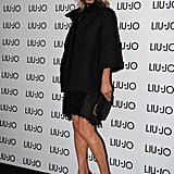 Kate Moss posed at an even in Milan for the brand Liu Jo in September 2012.