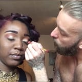 Video of Boyfriend Doing His Girlfriend's Makeup