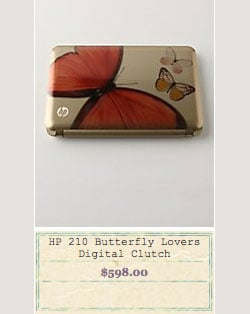 Anthropologie Carrying the HP Mini Butterfly Lovers Vivienne Tam Edition Netbook