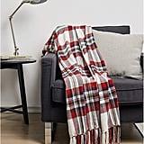 Amazon Basics Plaid Throw Blanket