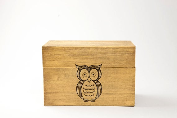 Owl Recipe Box