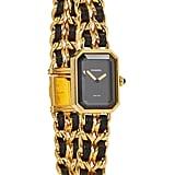 Chanel Black & Gold Premiere Watch XXL