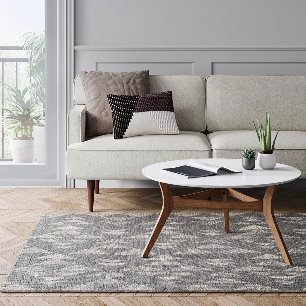 Indoor/Outdoor Mosaic Design Woven Rug