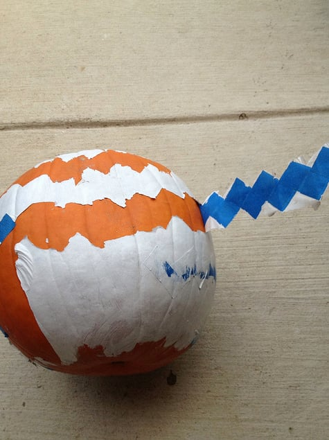Chevron-Painted Pumpkins