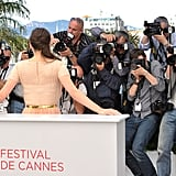 Marion Cotillard was captured by photographers for the Rust and Bone press conference at the Cannes Film Festival.