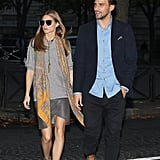 Olivia stepped out with husband Johannes Huebl in an effortlessly chic outfit.