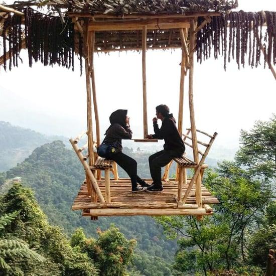 Hanging Swing at Puncak Mustika Manik in Indonesia