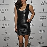 Paula Patton turned up the heat in a black leather dress.