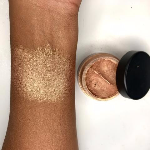 Rose Gold Highlighter For Deep Skin Tones MakeupforWOC